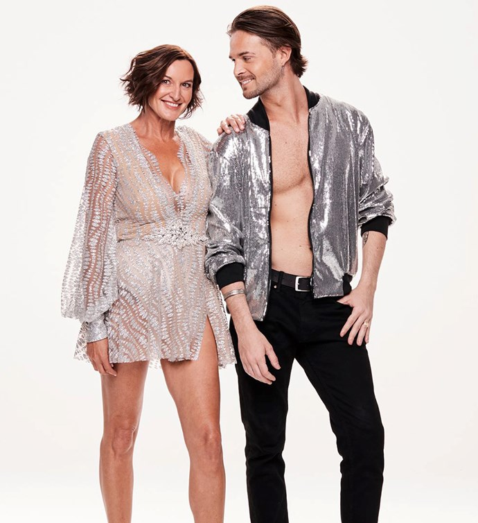 Cass and her *DWTS* partner Marco. *(Image: Channel 10)*