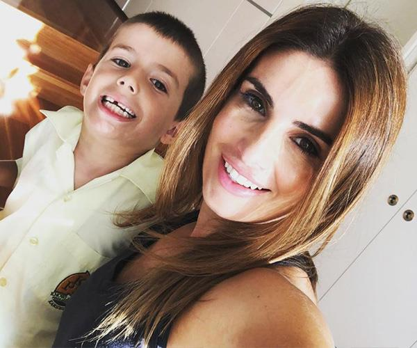 Ada's son Johnas has just started year one. *(Image: Instagram @adanicodemou)*