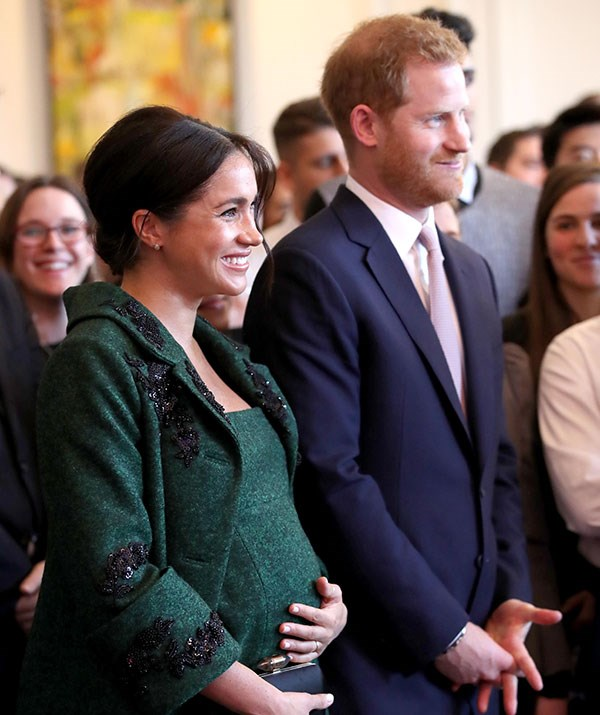 Not long to go now! This could potentially be Duchess Meghan's last official appearance. *(Image: Getty)*
