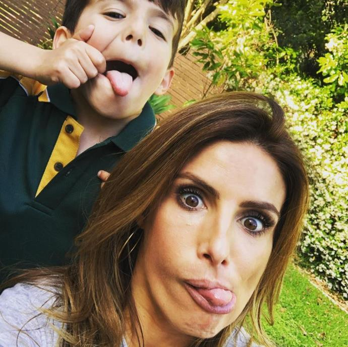 Ada is making sure she disciplines her son but also lets his little personality come out! *(Image: Instagram @adanicodemou)*