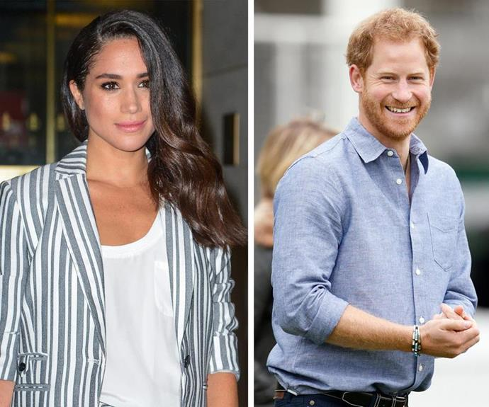 **February 2017: Meghan and Harry's relationship continues to grow** <br><br> 2017 was off to a running start for these two, with the pair being spotted together on a date in London at the beginning of February. Over the next few months, various reports of the pair's outings surfaced. With each, the world rejoiced. *(Images: Twitter)*