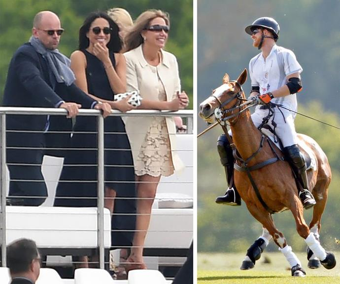 "**May 2017: A smooch at the Polo** <br><br> By May, things were well and truly serious - and [candid snaps](https://www.nowtolove.com.au/royals/british-royal-family/meghan-markle-and-prince-harry-kiss-at-the-polo-37271|target=""_blank"") of the pair sharing a peck at the Polo was enough to send royal fans into frenzy - we've got the real deal here, folks! *(Images: Mega)*"