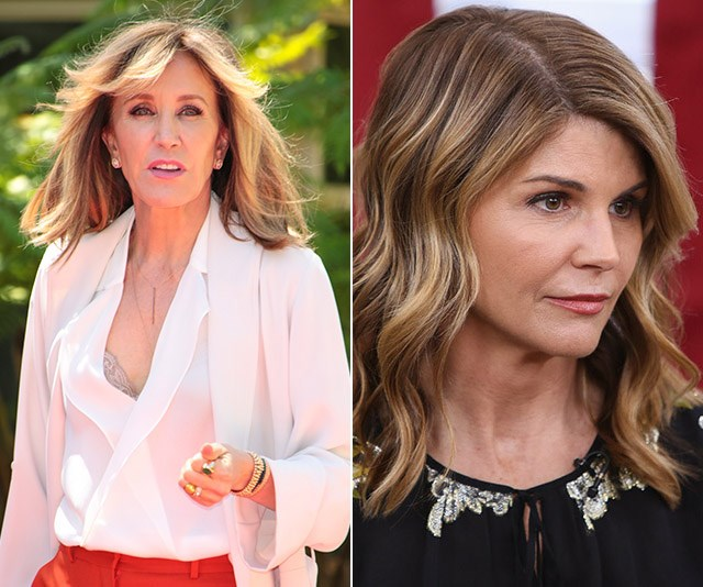 Hollywood celebs Felicity Huffman and Lori Loughlin have been accused of carrying out fraud, it has been alleged. *(Images: Getty)*