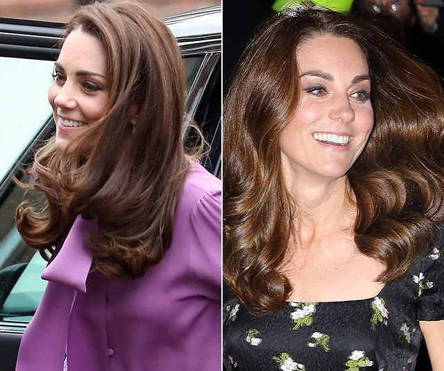 Duchess Catherine's knack for style has just been gloriously proved in a single day. *(Images: Getty)*