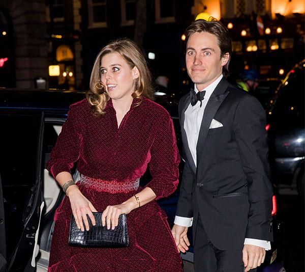 The look of love! Princess Beatrice was beaming as she stepped out with her new boyfriend for the Portrait Gala at the National Portrait gallery in London on Tuesday evening. *(Image: Getty)*
