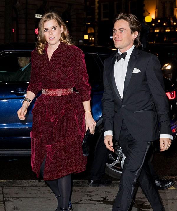 The royal cut an elegant figure in a maroon dress. *(Image: Getty)*