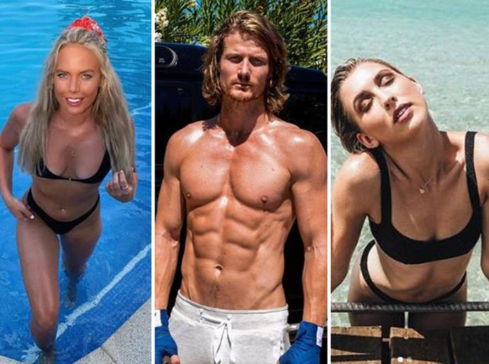 Cass Wood, Richie Strahan and Alex Nation are all set to heat up our screens on *BIP*. *(Image: Instagram)*