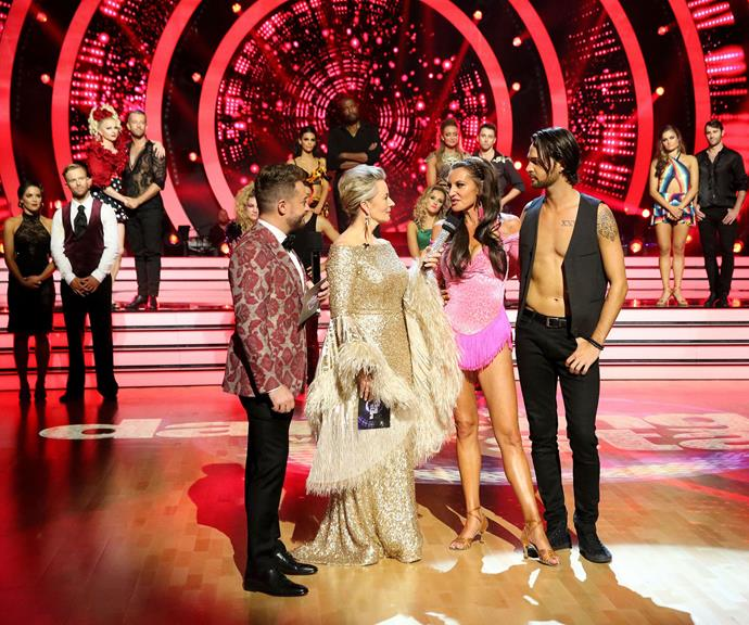 They were eliminated on Monday night's episode. *(Image: Channel 10)*