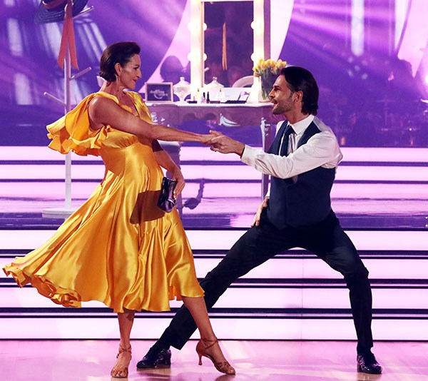 Cass was criticised by the judges for her stiff moves. *(Image: Channel 10)*