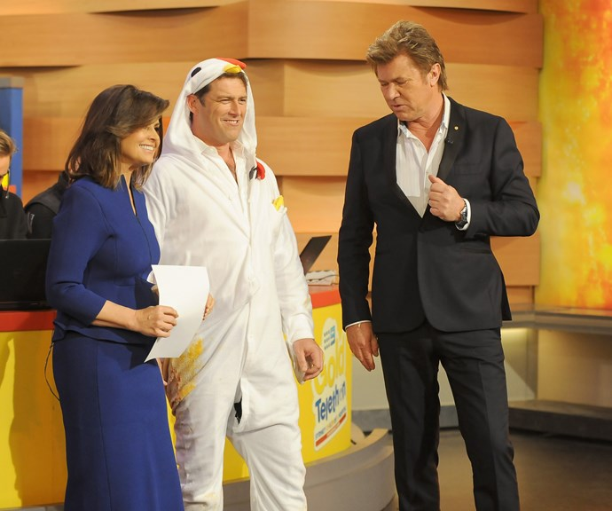 Lisa and Karl pictured with former Today Show presenter Richard Wilkins. *(Image; Getty)*