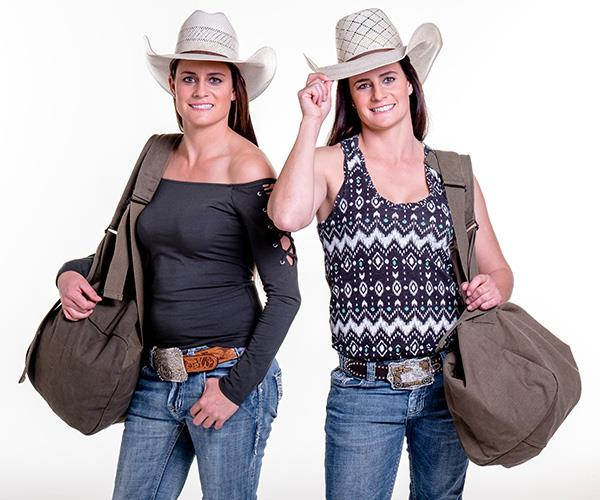 Identical twins, Stack and Mel are back, and their country charm is as, er, charming as ever! *(Image: Channel Nine)*