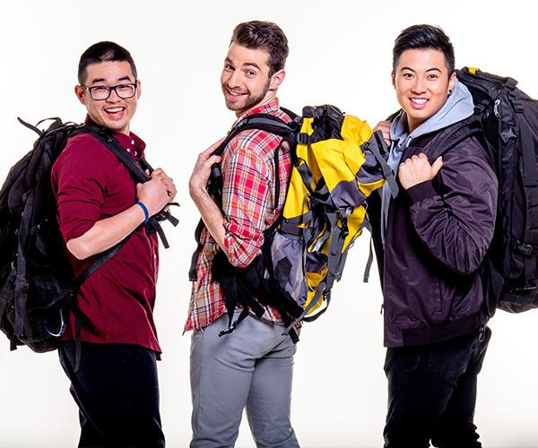 "The trio from Target – [Kev, Dorian and Teng](https://www.nowtolove.com.au/celebrity/tv/travel-guides-tv-show-cast-looking-for-love-45352|target=""_blank"") - are budget travellers always looking for an adventure, and a bite to eat."