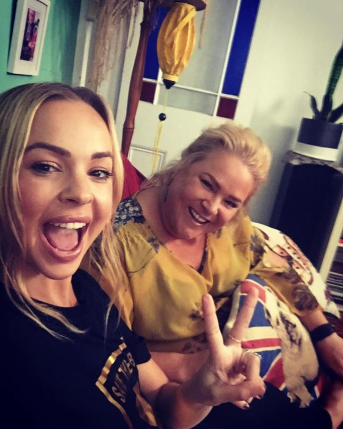 Former *Goggleboxers* Angie and Yvie both appeared on *I'm A Celebrity...Get Me Out Of Here!* earlier in 2019. *(Image: Instagram)*