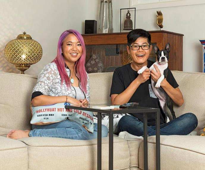 Leanne and Tim were excited about joining the *Gogglebox* cast. *(Image: Network Ten)*