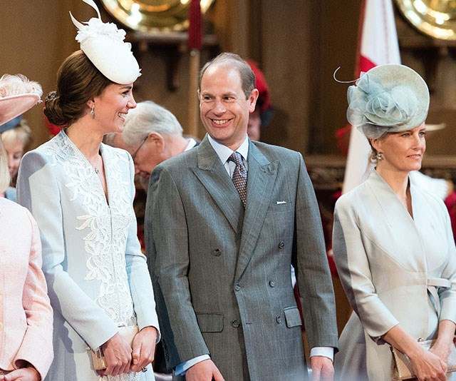 Sophie's husband Prince Edward also gets on famously with Kate. *(Image: Rex/Shutterstock)*