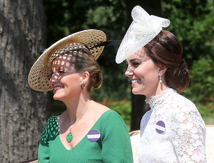Catherine and her right-hand woman at Royal Ascot in 2017. *(Image: Getty)*