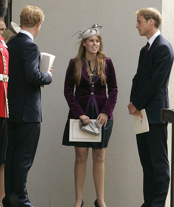 Another day, another social gathering but at least William, Bea and Harry are in good company.  *(Image: Getty)*