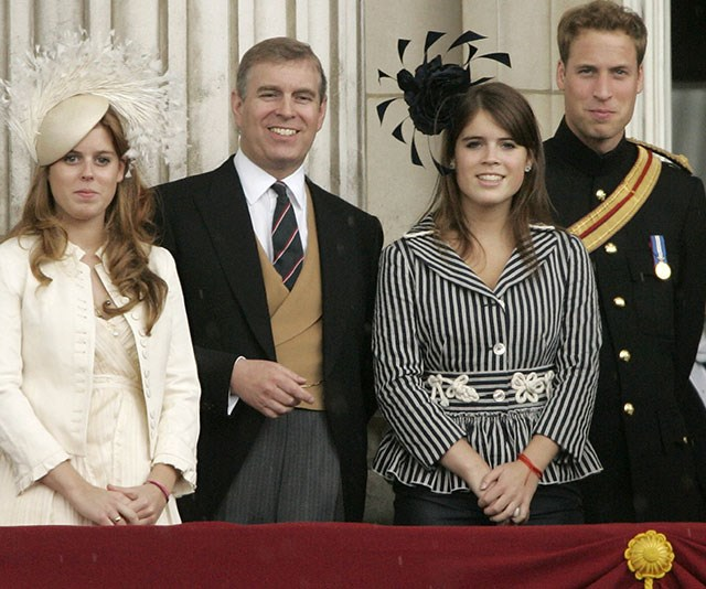 Prince William rubs shoulders with his uncle Prince Andrew and cousins. *(Image: Getty)*