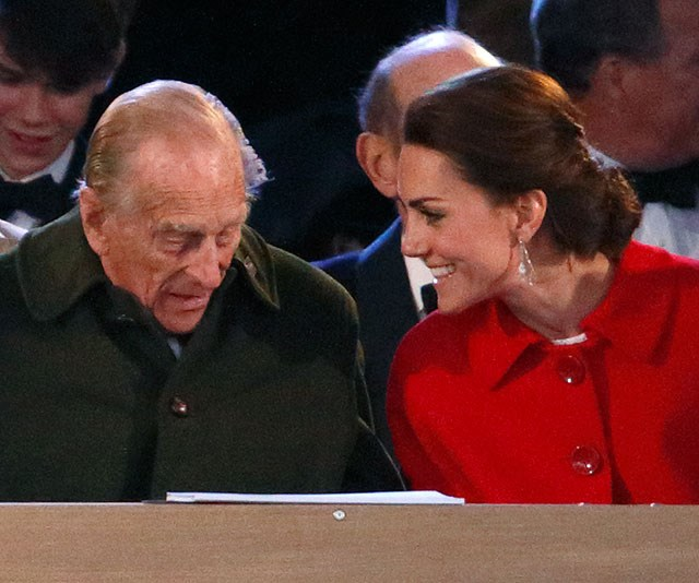 It's clear the Duke of Edinburgh is very fond of Catherine. *(Image: Getty)*