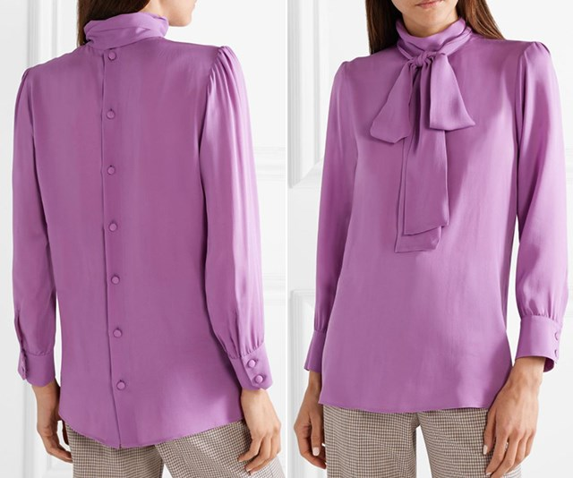 The original shirt (pictured) has the buttons running down the back. *(Image: Net-A-Porter)*