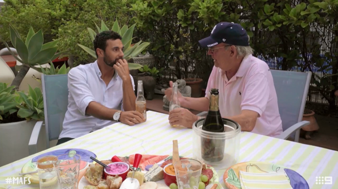 """Cam told his Dad that Jules is """"The One""""! *(Source: Channel Nine)*"""
