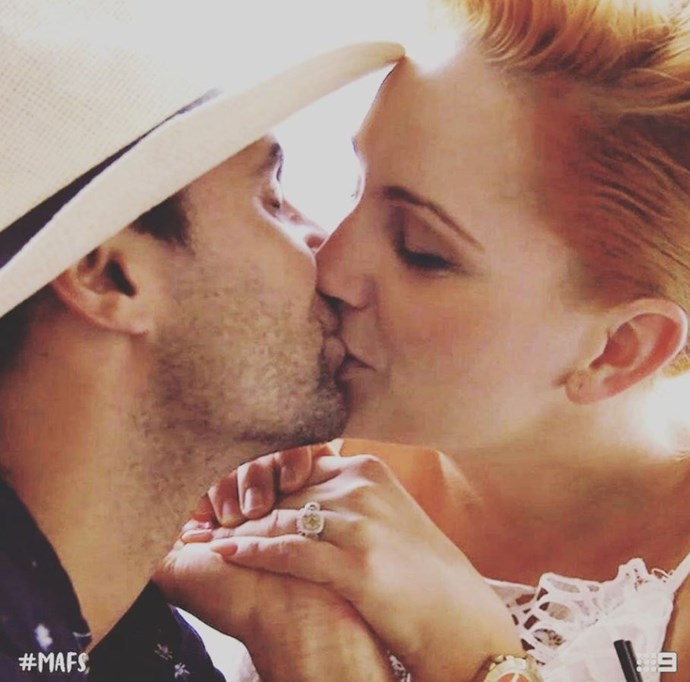 Jules posted this loved up pic on her Instagram pointing to a real live engagement! *(Source: Channel Nine/Instagram)*