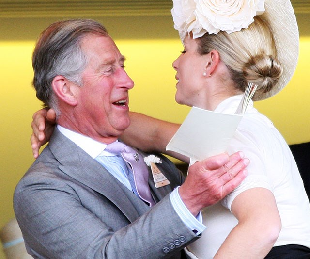 Zara greets Prince Charles in the Royal Box at Ascot in 2008. *(Image: Getty)*