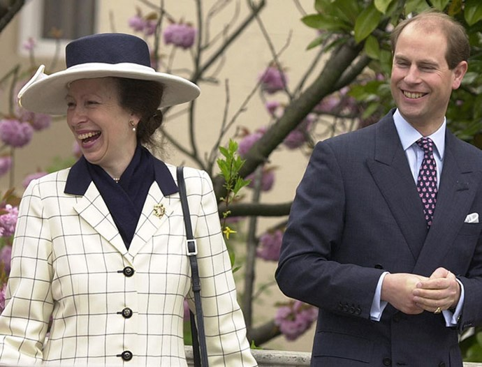 It's not often we see Princess Anne with her younger brother Prince Edward - but when they are together, they clearly enjoy each other's company. *(Image: Getty)*