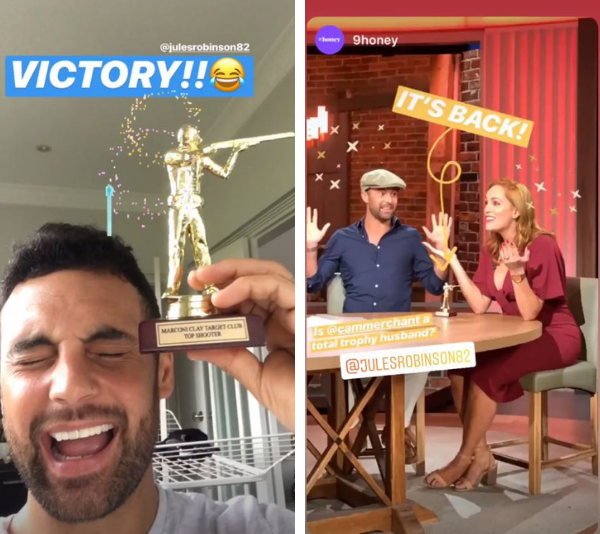 """The coveted """"trophy"""". *(Source: Channel 9)*"""