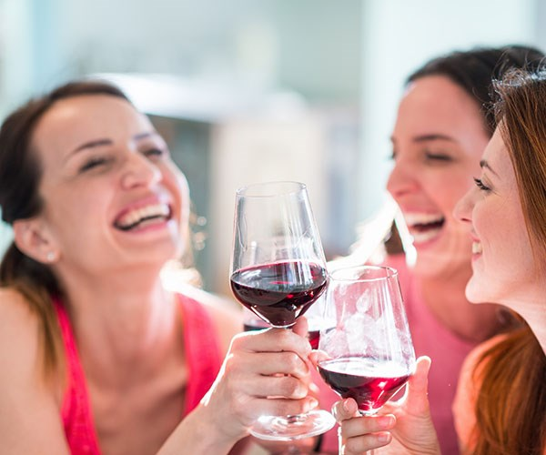 Cheers! Having a glass or two of vino can be good for your brain.