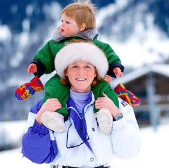"Winter trend setters! Sharing this brilliantly striking image to her Instagram, the Princess obviously couldn't get past this bold skiing fashion statement, writing: ""All this snow got me remembering how cool mum and I were in the 90s #flashbackfriday"". *Image: Instagram/[@princesseugenie](https://www.instagram.com/princesseugenie/