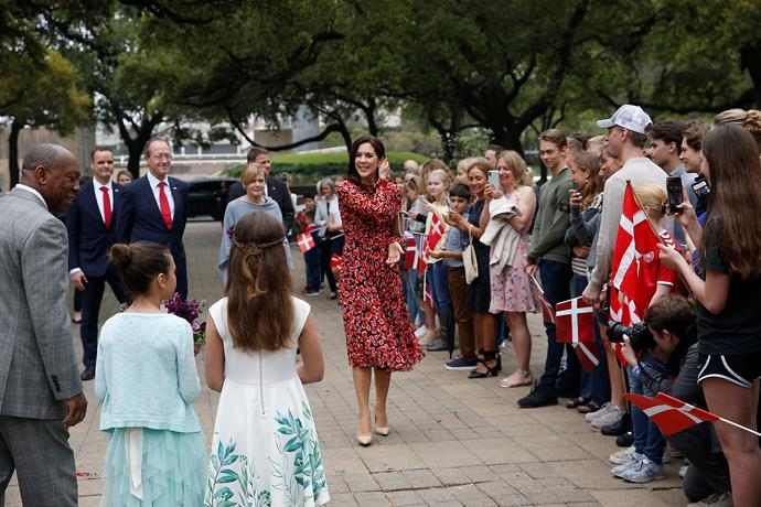 Crowds gathered to catch a glimpse of the glamorous royal! *(Image: Getty)*