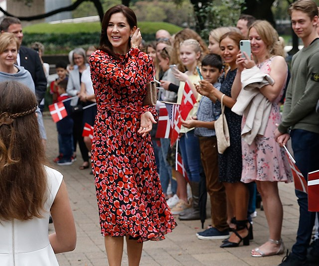 Crown Princess Mary wore a series of stunning outfits while visiting Texas in March. *(Image: Getty)*