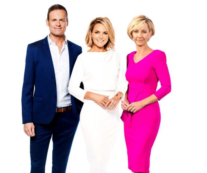 Tom Steinfort, Georgie and Deb were unveiled as the new hosts earlier this year. *(Image: Getty)*