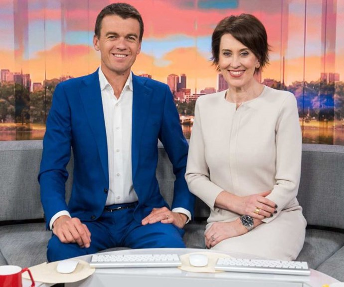 Michael Rowland and Virginia Trioli have been hosting News Breakfast together for 10 years. *(Image: ABC)*