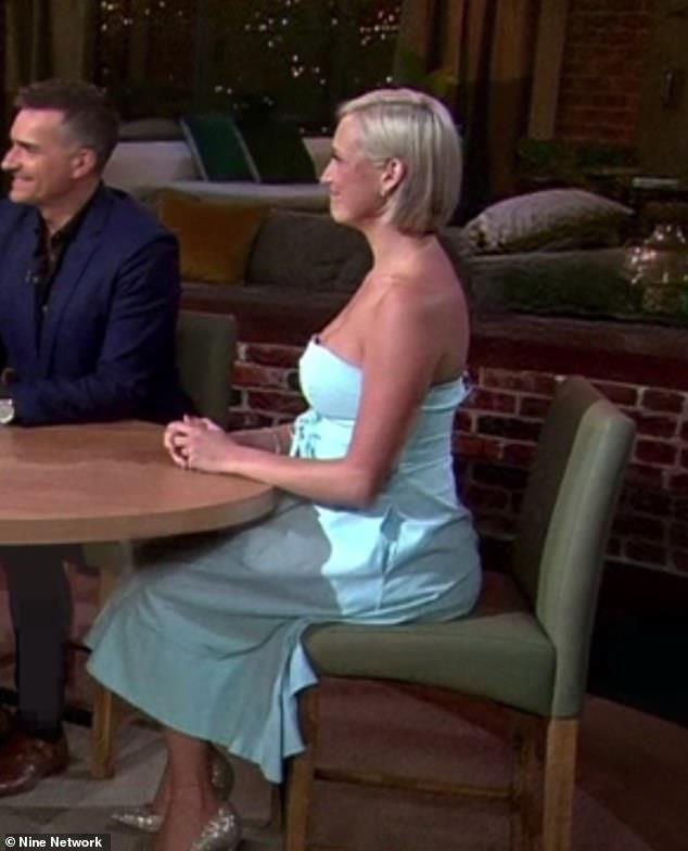 "Suzie on ""Talking Married"". *(Source: Channel 9)*"