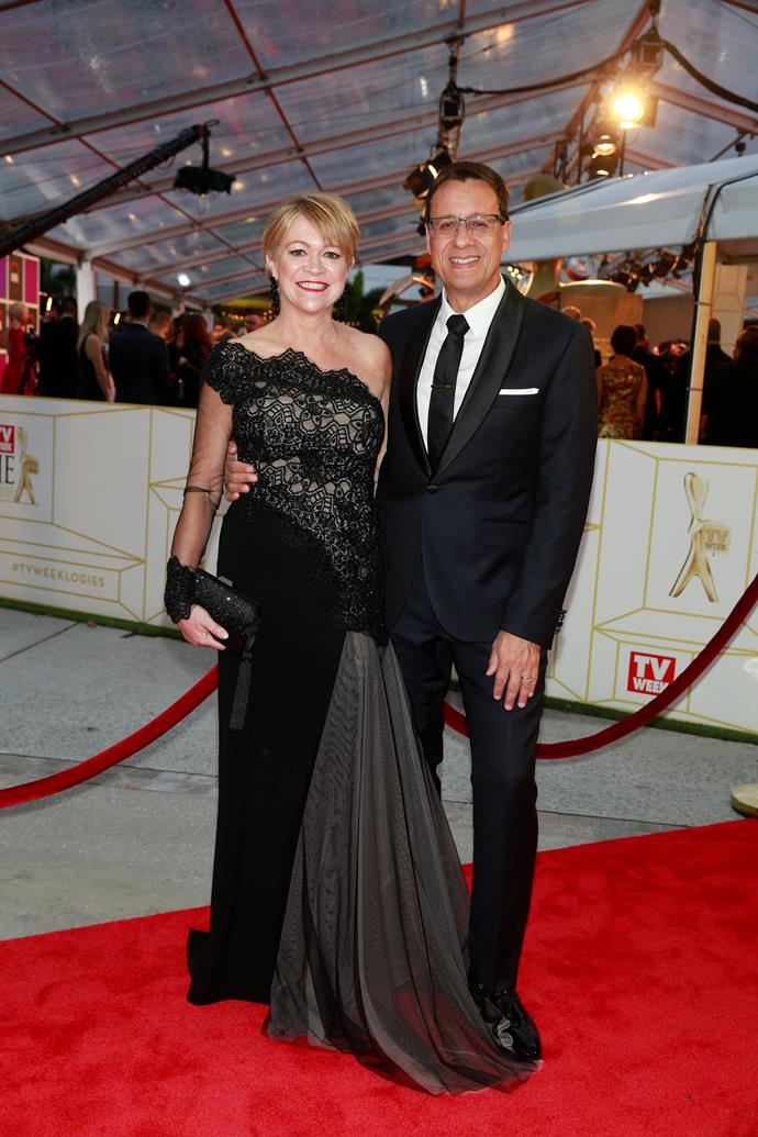 Caroline and Andrew at the 2018 TV WEEK Logie Awards.