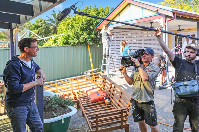 Andrew on-set of *Selling Houses Australia.*