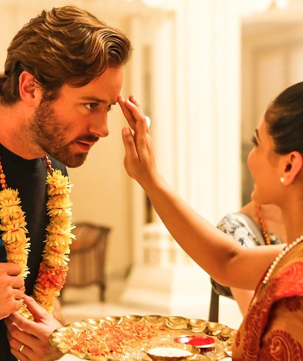 Armie Hammer as US tourist David in *Hotel Mumbai*.