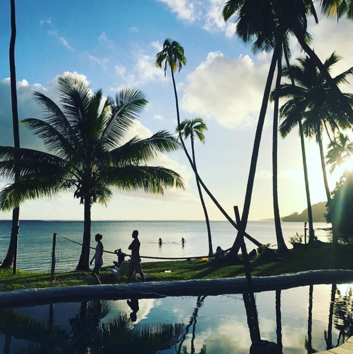 The stunning view from Mango Bay Resort, Fiji! *(Source: Instagram)*