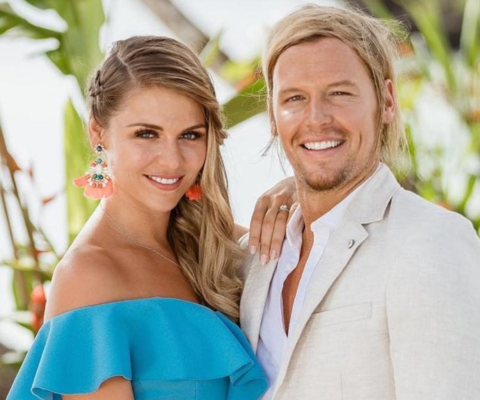 Tara and Sam pictured during happier times on the island. *(Image: Channel 10)*