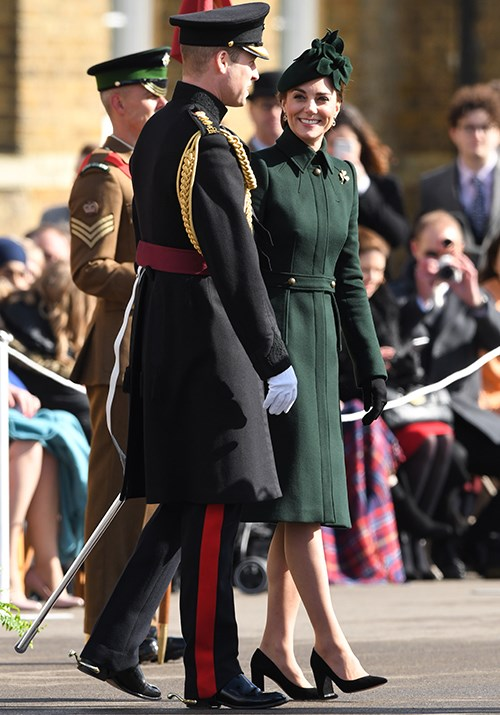 In 2019, Kate opted for a gorgeous Alexander McQueen coat for the day's festivities.