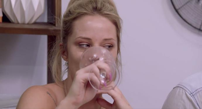 More wine, Jess? *(Source: Channel 9)*