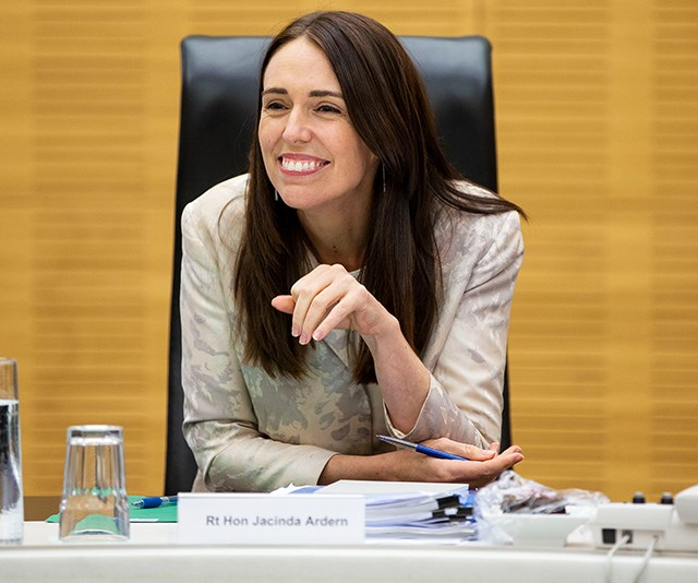 We wouldn't say no to working with a boss like this! Jacdina, who is the youngest person to have held the role of Prime Minister in 150 years, glowed as she kicked off a new year in politics for the first cabinet meeting in 2019. *(Image: Getty)*