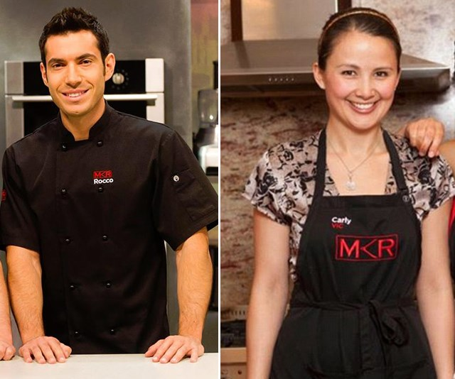 """**Rocco and Carly, Season 3** <br> <br> Love was in the air for South Australia's Rocco La Bella and his Victorian opponent Carly Cheung during the instant restaurant rounds. The couple even dated for 15 months after the show wrapped [but things turned sour](https://www.nowtolove.com.au/lifestyle/books/mkr-couples-split-gets-nasty-29324