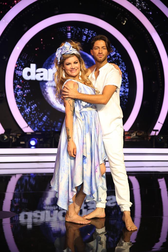 Constance sparkles on stage with her partner Gustavo Viglio.