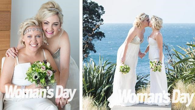 """The two celebrated their love in a commitment ceremony in 2012 but [made it official at their wedding](https://www.nowtolove.com.au/lifestyle/books/mkrs-carly-and-tresne-now-were-hitched-for-real-29428