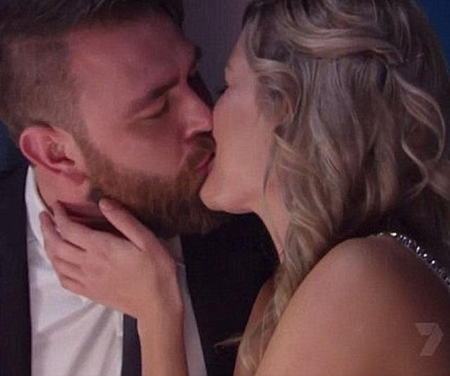 "**Bek and Kyle: Season 8** <br> <br> It was the kiss that stopped a nation...sort of. In an *MKR* first, Bek Outred and Kyle McLean locked lips at eventual winners Amy and Tyson Murr's first instant restaurant round. But it turned out to be a cheeky fling (if that) with Bek admitting, ""There was a spark there, but we just work out better as friends."" *(Image: Channel Seven)*"