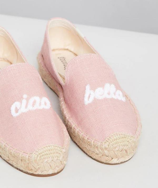 "Soludos Ciao Bella Smoking Slippers, $119.95. Available [here](https://www.theiconic.com.au/ciao-bella-smoking-slippers-742262.html|target=""_blank""
