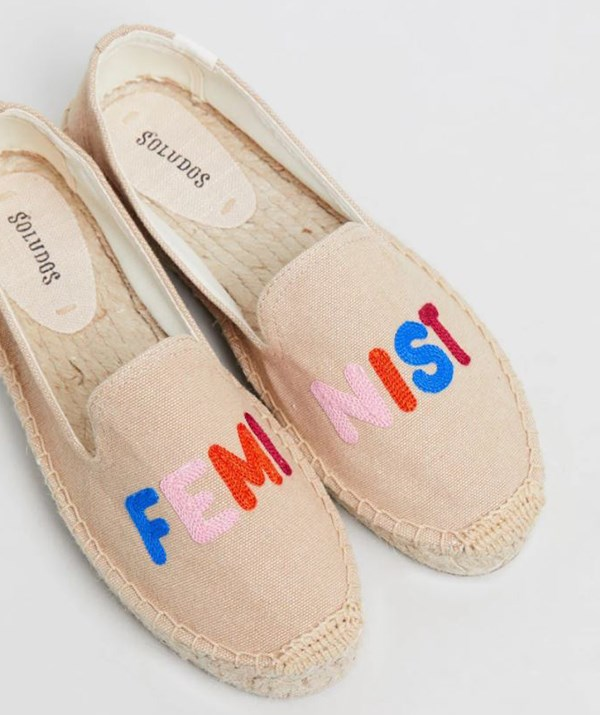 """Soludos Feminist Smoking Slippers, $129.95. Available [here](https://www.theiconic.com.au/feminist-smoking-slippers-777581.html